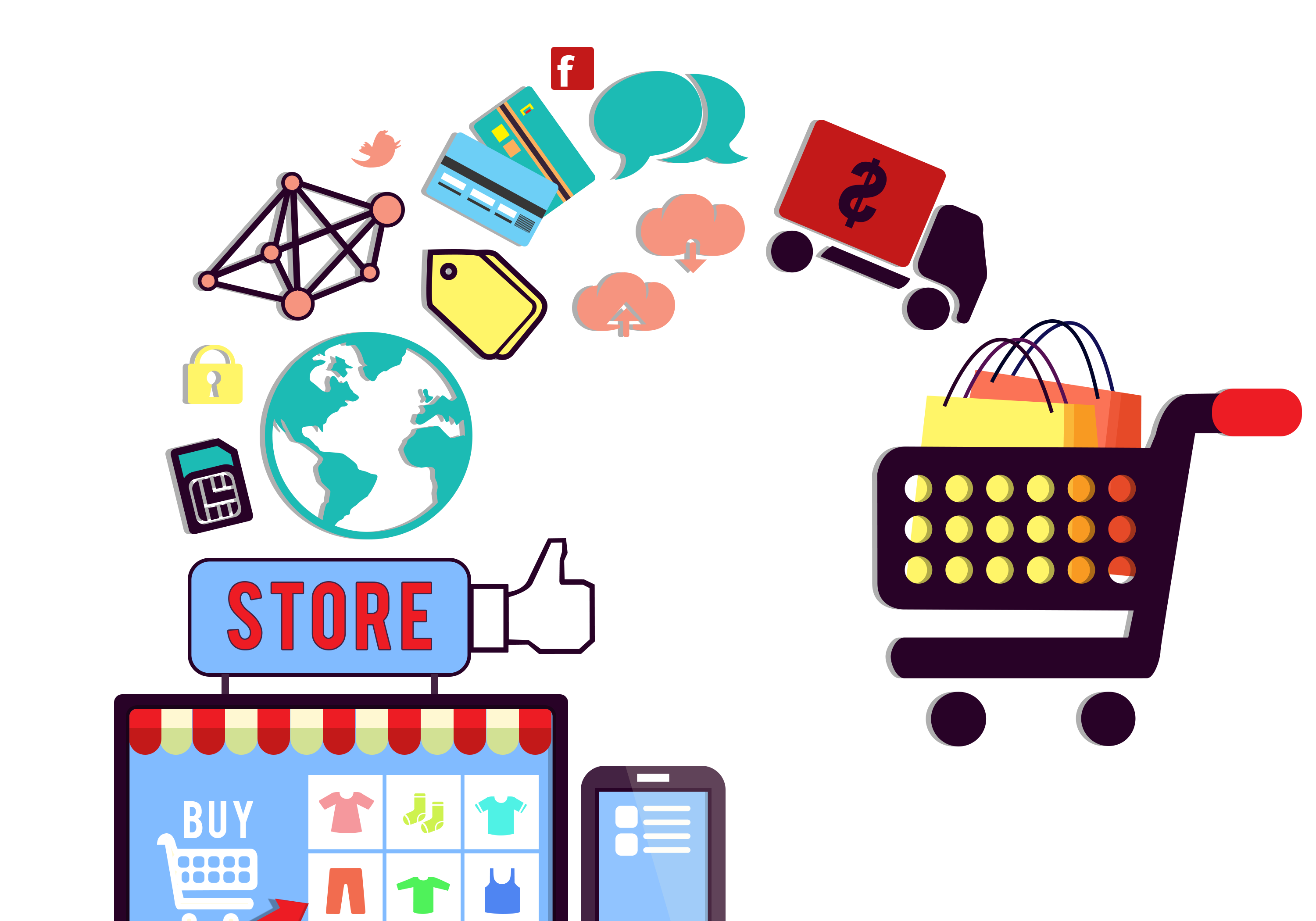 —Pngtree—business concept of online shopping_5345089